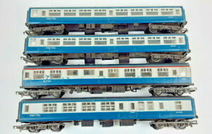 HORNBY B.R. MK2 COACHES X 3 + BUFFET  GOOD CONDITION UNBOXED OO(WD)