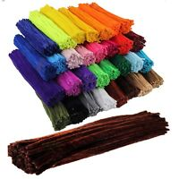 """Chenille Craft Stems Pipe Cleaners 30cm 12"""" - Lots of Colours & Pack Sizes - UK"""