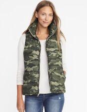 LRG Women's Frost-Free Green Camo Zip Vest Water Resistant Fleece Lining Style