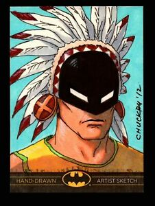 DC Comics Batman: The Legend 2013 Cryptozoic Sketch Card by Chris Chuckry