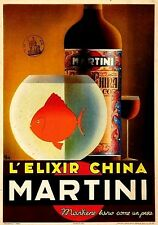 Magnet Advertising Advertisement for L Elixir China Martini