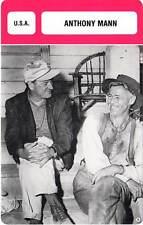 FICHE CINEMA :  ANTHONY MANN -  USA (Biographie/Filmographie)