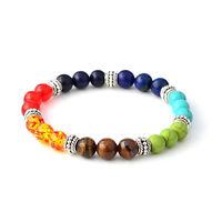 7 Chakra Healing Balance Beads Bracelet Yoga Life Energy Natural Stone Bracelet