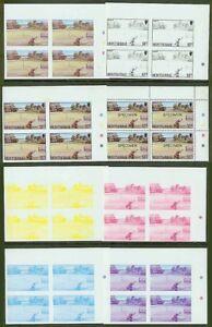 Montserrat 1986 Golf $1.15 PROOF BLOCKS (x7)