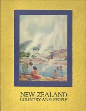 New Zealand Country and People . 1930's Portrait Illustrated Charming . C. Clyde