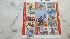 Feuillet de  12 timbres belges non oblitérés  MOTOCROSS SPORT CHAMPIONS