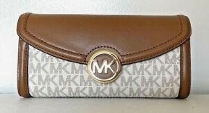 test Michael Kors Fulton Large Flap Continental wallet Leather Vanilla