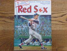 April 1968 BOSTON RED SOX vs DETROIT TIGERS Baseball Game PROGRAM NICE!