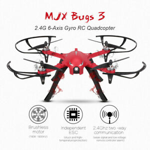 Mjx Bugs 3 Drone Quadcopter Brushless Motors Camera Support Long Flight Time Red