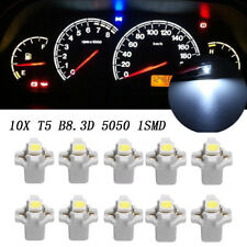 10x T5 B8.3D 5050 1SMD Car White LED Dashboard Dash Gauge Instrument Light Bulbs