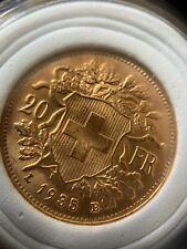 """Pièce d'or de 20 Francs Suisses """"Vreneli"""""""