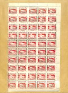 [OP4036] Bolivia 1944 lot of set in block of 50 stamps very fine MNH