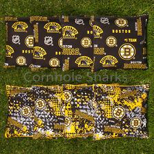 Cornhole Bean Bags Set of 8 ACA Regulation Bags Boston Bruins Free Shipping!!