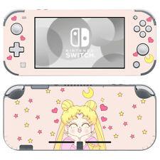 Nintendo Switch Lite Skin Decals Stickers Vinyl Sailor Moon Crystal Anime Pink