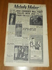 MELODY MAKER 1952 #998 NOV 1 JAZZ SWING PEARL BAILEY LOUIE BELLSON CAB CALLOWAY