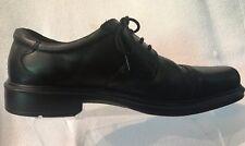 Ecco Helsinki Black Leather Cap Toe Lace Up Derby Oxford Shoe Mens 45 US 11-11.5