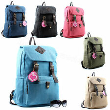 Zip Canvas Patternless Backpack Handbags