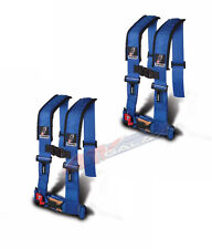 Dragonfire DFR Safety Seat Belt Harness H Style 4 Point 3 Pair Blue Universal