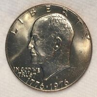 1976-D Ty1 Eisenhower IKE Dollar Uncirculated - High Quality Scans #B638