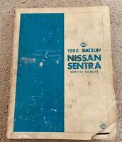 1982 Datsun Nissan Sentra Service Shop Repair Manual