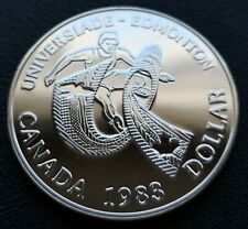 * Canada 1983 Silver Dollar * Universiade Edmonton *