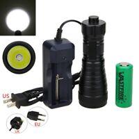 XM-L2 LED Buceo Linterna Antorcha Luz 18650/26650 Batería Lámpara Submarino 200m