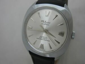 NOS NEW SWISS VINTAGE AUTOMATIC VALGINE 41JEWELS ANALOG MENS WATCH WITH DATE 60'