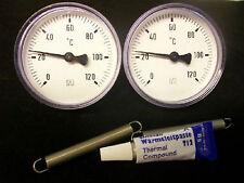 3 teiliges Set,2x Anlegethermometer Bi 63 A und 1x Wärmeleitpaste Amasan T12