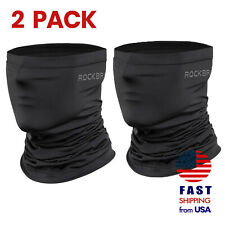 [2 PACK] ROCKBROS Neck Gaiter Black Face Mask Breathable Cool Sports Balaclava