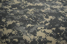 "ACU ARMY DIGITAL CAMOUFLAGE 70D NYLON TASLAN COATED DWR  FABRIC MILITARY 60""W"