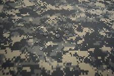 """ACU ARMY DIGITAL CAMOUFLAGE 70D NYLON TASLAN COATED DWR  FABRIC MILITARY 60""""W"""