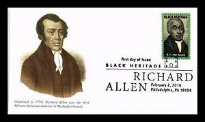 DR JIM STAMPS RICHARD ALLEN METHODIST MINISTER BLACK HERITAGE FDC US COVER