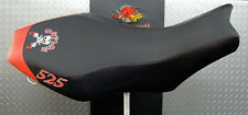 polaris outlaw 450 500 525  GRIPPER seat cover  2006-2008 BLACK AND RED