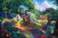 Snow White Large 30x20 Inch Canvas - Disney Framed Picture Artwork