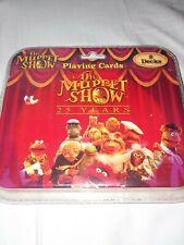 New package Jim Henson's The Muppet Show 25 Years 2 Decks Playing Cards W/ Tin