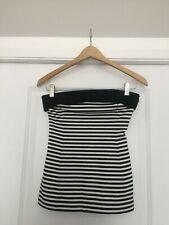 Zara Basic Strapless Stripe Top Size S