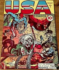 Flashback #3 U.S.A Comics #1 Golden Age Reprint Comic/1941/Dynapubs/Jack Kirby