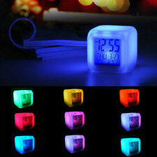 Multi-Colour Alarm Clock Mood Light Color Changing LED Tackle Fashion .Funny.