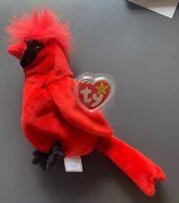 "Ty Beanie Baby ""Mac� The Cardinal – Rare with 4 Errors Mwt"