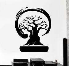 Vinyl Wall Decal Bonsai Tree Enso Circle Zen Asian Style Stickers Mural (ig4582)