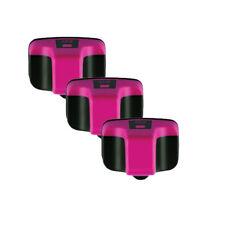 3 MAGENTA Ink Jet Replacement for HP 02 Photosmart C5180 C6180 C6280 C7180 D7160