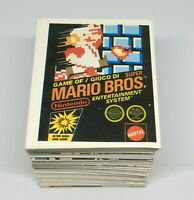 1992 MERLIN Nintendo Complete Set 276 Stickers Super Mario Zelda