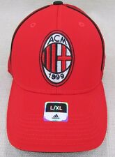 ADIDAS Men's AC Milan FC Football Soccer Flex Fit Cap Hat L, XL Red NEW