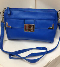 NEW! AUTHENTIC XOXO MASTERMIND COBALT BLUE CROSSBODY SLING BAG PURSE $49 SALE