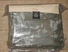 NEW $169 EDDIE BAUER HOME GREEN JACQUARD BED COTTON COMFORTER COVER DUVET KING
