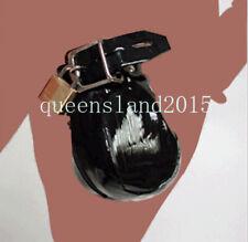Patent Leather Male Chastity Belt Brid Cage Under Wear Bondage Device Hot New