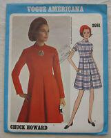 Vintage Dress Sewing Pattern*Vogue 2081*Size 10*UNCUT/FF*Chuck Howard*Retro 60s