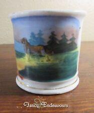 Antique Miniature Shaving Mug Child's Kid's Children's Mug with Dog