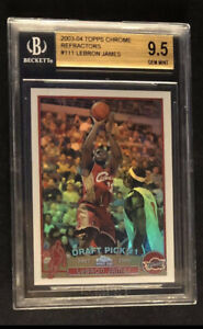 2003-04 Lebron James Topps Chrome Refractor #111 RC Rookie BGS 9.5 Old Label! 🔥