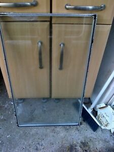old used grubby double glazed glass window unit no frame 77cm x 45.5cm